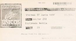 JULIO  IGLESIAS - UNICOS - GIRA 1997 - PALAU SANT JORDI - BARCELONA 27 06 1997 - TICKET ENTRADA - Tickets - Entradas