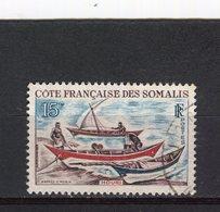 COTE DE SOMALIS - Y&T N° 320° - Voilier - Houri - Côte Française Des Somalis (1894-1967)