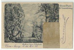 Luxembourg Rochers Dans L'Aesbach + Aufgeklebtes Bild 1899 - Sonstige
