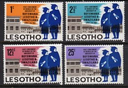 LESOTHO  - 1967 UNIVERSITY DEGREES CONFERENCE SET (4V) FINE MOUNTED MINT MM * SG 137-140 - Lesotho (1966-...)