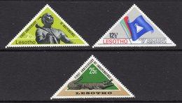 LESOTHO  - 1967 1ST INDEPENDENCE ANNIVERSARY SET (3V) FINE MOUNTED MINT MM * SG 141-143 - Lesotho (1966-...)