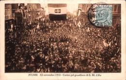 Fiume  XI Novembre 1918 - Corteo Pel Genetliaco Di S M Il Re (top Animation) - Croatie