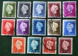 Koningin Wilhelmina NVPH 474-486 549 (Mi 477-489 551) 1947 -1948 Gebruikt / Used NEDERLAND / NIEDERLANDE - Period 1891-1948 (Wilhelmina)