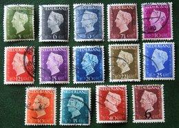 Koningin Wilhelmina NVPH 474-486 549 (Mi 477-489 551) 1947 -1948 Gebruikt / Used NEDERLAND / NIEDERLANDE - Gebraucht