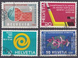 HELVETIA - SUISSE - SVIZZERA - 1961 - Serie Completa Usata Formata Da 4 Valori: Yvert 673/676. - Usati