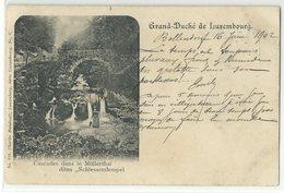 "Luxembourg Cascades Dans Le Müllerthal 1902 Bahnpost ""Echternach-Ettelbrück"" - Sonstige"
