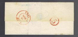 """Lsc Bruxelles 19 Nov 1844 ==> Gand Vacation Cercle """" 5 """" Adréssée à Un Proffesseur De L'Académie De Peinture - 1830-1849 (Onafhankelijk België)"""