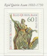 PIA -GER-  1992  : 300° Della Nascita Dello Scultore E Architetto Egid Quirin Asam  -  (Yv 1454) - Scultura