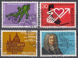 HELVETIA - SUISSE - SVIZZERA - 1975 - Serie Completa Usata Formata Da 4 Valori: Yvert 987/990. - Usati