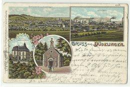 Dudelange Düdelingen U.a. Hochöfen Litho 1906 - Dudelange