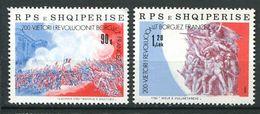 250 ALBANIE 1989 - Yvert 2195/96 - Revolution Francaise Philexfrance - Neuf ** (MNH) Sans Charniere - Albania