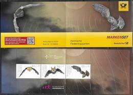 GERMANY, 2019, MNH, BATS, SHEETLET IN BOOKLET - Bats