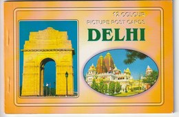 DELHI - 12 Colours Picture Post Cards - India