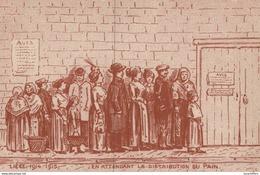Liège 1914-1918 - Illustration - En Attendant La Distribution Du Pain - 2 Scans - Marchands Ambulants