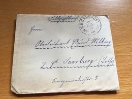 BAHNPOST BAYERN   MNS - HOMB.  1918 Feldpost - Lettres & Documents