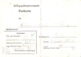 Courrier D'un PRISONNIER DE GUERRE Au STALAG XIIF - Guerre De 1939-45