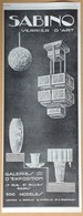 1927 Sabino Verrier D'art (verreries Art Déco) Usines à Romilly S/Andelle Et Bagnolet Galeries Paris - Publicité - Publicités