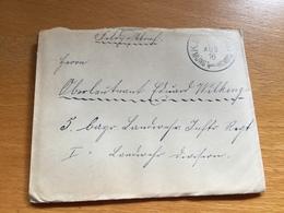 BAHNPOST BAYERN   MÜNST. - HOMB.  1916  Feldpost - Lettres & Documents