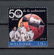Moldova 2019 50 Anniversary Of The Apollo 11 Space Mission Personalized Stamp** MNH - Moldova