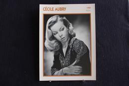Sp-Actrice,Française - 1950 - Cécile Aubry, Née En 1928 à Paris, Morte En  2010 à Dourdan, France - Acteurs