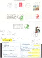 FRANCE '59 DENAIN' 1978/95  15 MARQUES POSTALES Et  OBLITERATIONS - Marcophilie (Lettres)