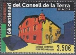 Andorra Español 2019 600 Ans Conseil De Terre Neuf ** - Neufs