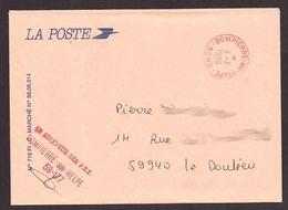 FRANCE '59 DOMPIERRE SUR HELPE' 1989  1 MARQUE POSTALE - Marcophilie (Lettres)
