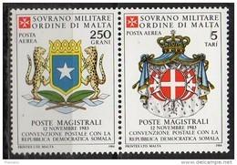 PIA - SMOM - 1984 : Convenzione Postale Con La Repubblica Democratica Somala   - (SAS  A5-6) - Malte (Ordre De)