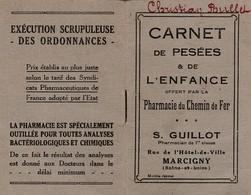 71 - MARCIGNY - Carnet De Pesées De 1932  De S.Guillot - Pharmacien ( Couverture + 16  Pages Format 6,7 Cm X 10,4 Cm) - Historical Documents