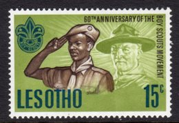 LESOTHO  - 1967 SCOUT ANNIVERSARY STAMP FINE MOUNTED MINT MM * SG 144 - Lesotho (1966-...)