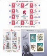 Lot De 3 Blocs Feuillets En Francs 1989-95 - Blocs & Feuillets