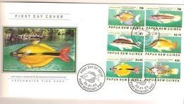 Papouasie Papua New Guinea 2004 FDC Yvert 963-68 (°) Oblitéré Used  Cote 30 Euro Faune Marine Poissons Vissen Fish - Papouasie-Nouvelle-Guinée