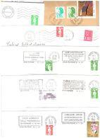 FRANCE '59 DOUAI POLYGONE' 1978/94  11 MARQUES POSTALES Et  OBLITERATIONS - Marcophilie (Lettres)