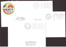 FRANCE '59 DOUAI POLYGONE P.P.' 1988/94  3 MARQUES POSTALES - Marcophilie (Lettres)