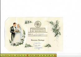 51836 - TELEGRAMME DE BONHEUR - 1958 - HEUREUX MARIAGE - Stamped Stationery