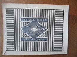 H. FICHEUX & FILS A QUAROUBLE NORD MARQUE RAYON D'OR CHICOREE EXTRA PURE (EPREUVE) 23cm/17,5cm - Reclame