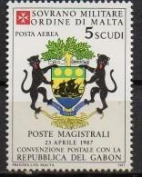 PIA - SMOM - 1987 : Convenzione Postale Con La Repubblica Del Gabon - (SAS  P.A.  A33) - Malte (Ordre De)