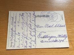 FELDPOST 1. WK  SEUCHENLAZARETT INOR Absender LUFTSCHIFFER - Lettres & Documents