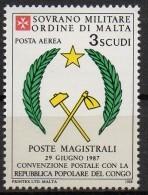 PIA - SMOM - 1988 : Convenzione Postale Con La Repubblica Del Congo - (SAS  P.A.  A36) - Malte (Ordre De)