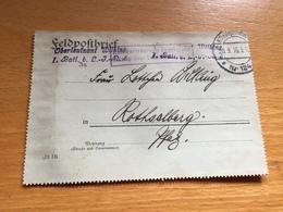 FELDPOST 1. WK  1. Batl. B. L.-J.R ZUR BEFÖRDERUNG FREIGEGEBEN 1916 - Allemagne