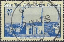 CYPRUS (TURKEY) 1980 Ancient Monuments - 20l. Selimiye Mosque, Nicosia FU - Usados
