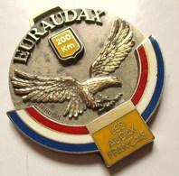 MEDAILLE EURAUDAX 200 KM LES AUDAX FRANCAIS AIGLE BLEU BLANC ROUGE SIGNEE R. RUBIN CYCLISME - Cyclisme