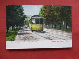 Scene Along The Route Of The Yellow Car -------Buffalo & Niagara Falls  >  Ref    3557 - Trains