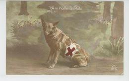 """GUERRE 1914-18 - CHIENS - DOG  - RED CROSS - Jolie Carte Fantaisie Chien De La Croix Rouge """"L'Ami Fidèle Du Poilu """" - Patriottisch"""