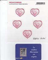 Lot  Marianne En Argent Et Bloc Patch D' Amour - France