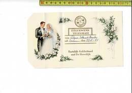 51860 - GELUKWENS TELEGRAM - MENEN 1958 - HARTELIJK GEFELICITEERD MET UW HUWELIJK - Entiers Postaux
