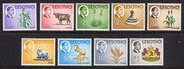 LESOTHO  - 1968 DEFINITIVE SET (9V) FINE MOUNTED MINT MM * SG 147-154, 158 - Lesotho (1966-...)