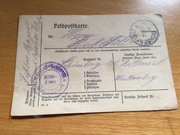 FELDPOST 1. WK  VEREINS-LAZARETT OCHSENFURT   1918 - Lettres & Documents