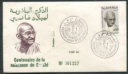 Maroc 1er Jour N° 594 Ghandi - Maroc (1956-...)