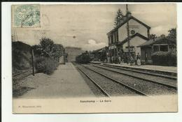 70 - Haute Saone - Ronchamp - La Gare- Train à Quai - Voyageurs  - Animée - - France
